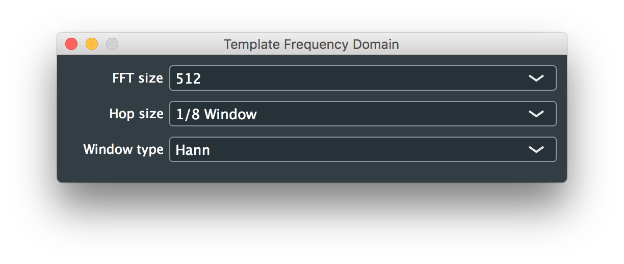 Template Frequency Domain